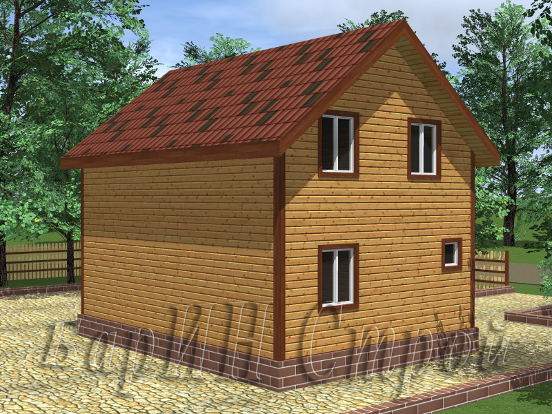 проекты брусовых домов 100-160 м2с эркером
